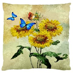 Backdrop Colorful Butterfly Large Flano Cushion Case (two Sides)