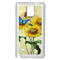 Backdrop Colorful Butterfly Samsung Galaxy Note 4 Case (white)