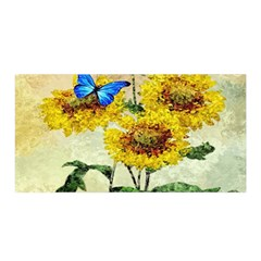Backdrop Colorful Butterfly Satin Wrap by Nexatart