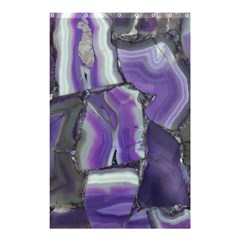 Purple Agate Natural Shower Curtain 48  X 72  (small)  by Alisyart