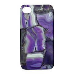 Purple Agate Natural Apple Iphone 4/4s Hardshell Case With Stand by Alisyart