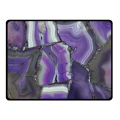 Purple Agate Natural Double Sided Fleece Blanket (small)  by Alisyart