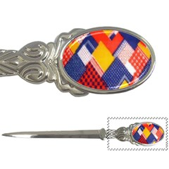 Background Fabric Multicolored Patterns Letter Openers by Nexatart