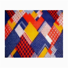 Background Fabric Multicolored Patterns Small Glasses Cloth