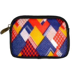 Background Fabric Multicolored Patterns Digital Camera Cases