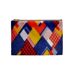 Background Fabric Multicolored Patterns Cosmetic Bag (medium)  by Nexatart