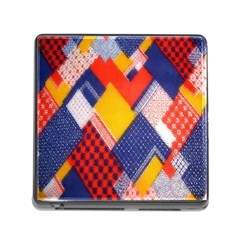 Background Fabric Multicolored Patterns Memory Card Reader (square)