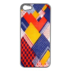 Background Fabric Multicolored Patterns Apple Iphone 5 Case (silver) by Nexatart