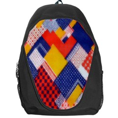 Background Fabric Multicolored Patterns Backpack Bag