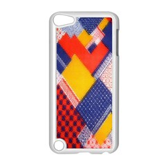 Background Fabric Multicolored Patterns Apple Ipod Touch 5 Case (white) by Nexatart