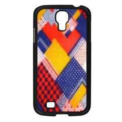 Background Fabric Multicolored Patterns Samsung Galaxy S4 I9500/ I9505 Case (black) by Nexatart