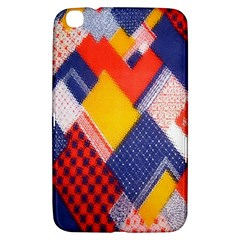 Background Fabric Multicolored Patterns Samsung Galaxy Tab 3 (8 ) T3100 Hardshell Case