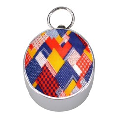 Background Fabric Multicolored Patterns Mini Silver Compasses by Nexatart