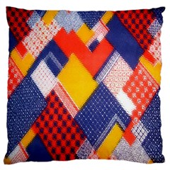 Background Fabric Multicolored Patterns Standard Flano Cushion Case (two Sides)