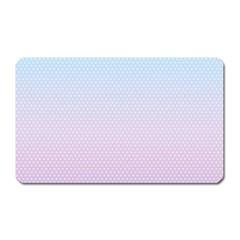 Simple Circle Dot Purple Blue Magnet (rectangular) by Alisyart