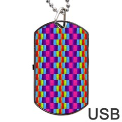 Background For Scrapbooking Or Other Patterned Wood Dog Tag Usb Flash (two Sides) by Nexatart