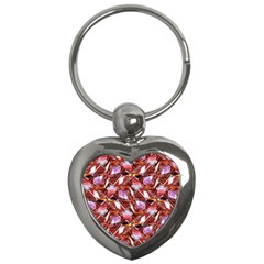 Background For Scrapbooking Or Other Shellfish Grounds Key Chains (heart)