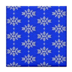 Background For Scrapbooking Or Other Snowflakes Patterns Tile Coasters by Nexatart