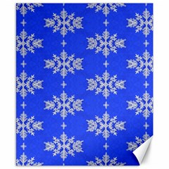 Background For Scrapbooking Or Other Snowflakes Patterns Canvas 8  X 10  by Nexatart