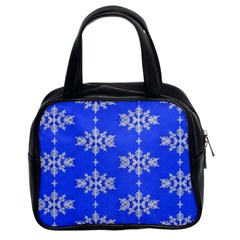Background For Scrapbooking Or Other Snowflakes Patterns Classic Handbags (2 Sides)