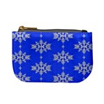 Background For Scrapbooking Or Other Snowflakes Patterns Mini Coin Purses Front