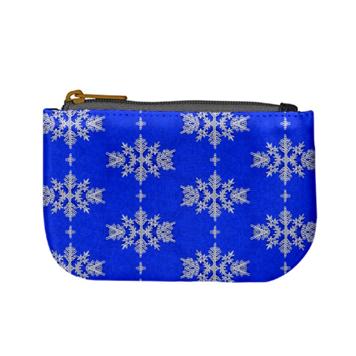 Background For Scrapbooking Or Other Snowflakes Patterns Mini Coin Purses