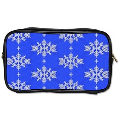 Background For Scrapbooking Or Other Snowflakes Patterns Toiletries Bags 2 Side