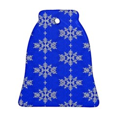 Background For Scrapbooking Or Other Snowflakes Patterns Bell Ornament (two Sides)