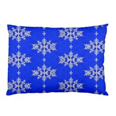 Background For Scrapbooking Or Other Snowflakes Patterns Pillow Case (two Sides)