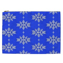 Background For Scrapbooking Or Other Snowflakes Patterns Cosmetic Bag (xxl)