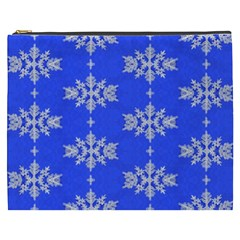 Background For Scrapbooking Or Other Snowflakes Patterns Cosmetic Bag (xxxl)