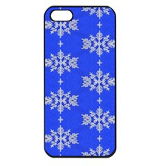 Background For Scrapbooking Or Other Snowflakes Patterns Apple Iphone 5 Seamless Case (black) by Nexatart