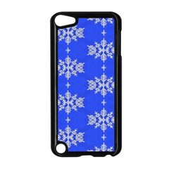 Background For Scrapbooking Or Other Snowflakes Patterns Apple Ipod Touch 5 Case (black) by Nexatart