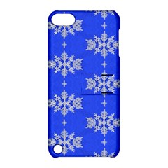 Background For Scrapbooking Or Other Snowflakes Patterns Apple Ipod Touch 5 Hardshell Case With Stand by Nexatart