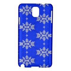 Background For Scrapbooking Or Other Snowflakes Patterns Samsung Galaxy Note 3 N9005 Hardshell Case by Nexatart