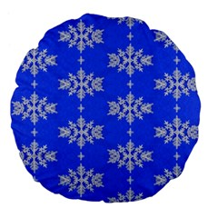 Background For Scrapbooking Or Other Snowflakes Patterns Large 18  Premium Flano Round Cushions by Nexatart