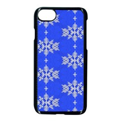 Background For Scrapbooking Or Other Snowflakes Patterns Apple iPhone 7 Seamless Case (Black) by Nexatart