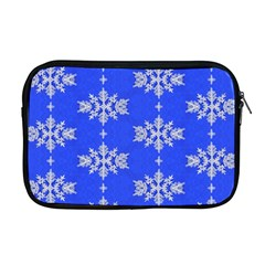 Background For Scrapbooking Or Other Snowflakes Patterns Apple Macbook Pro 17  Zipper Case by Nexatart