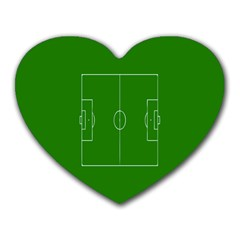 Soccer Field Football Sport Green Heart Mousepads by Alisyart