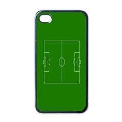 Soccer Field Football Sport Green Apple Iphone 4 Case (black) by Alisyart