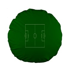 Soccer Field Football Sport Green Standard 15  Premium Flano Round Cushions by Alisyart