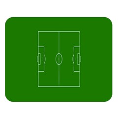 Soccer Field Football Sport Green Double Sided Flano Blanket (large)  by Alisyart