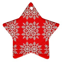 Background For Scrapbooking Or Other Stylized Snowflakes Ornament (star)