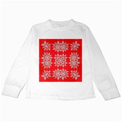 Background For Scrapbooking Or Other Stylized Snowflakes Kids Long Sleeve T Shirts