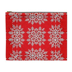 Background For Scrapbooking Or Other Stylized Snowflakes Cosmetic Bag (xl)