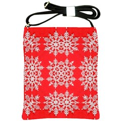 Background For Scrapbooking Or Other Stylized Snowflakes Shoulder Sling Bags