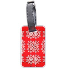 Background For Scrapbooking Or Other Stylized Snowflakes Luggage Tags (two Sides)