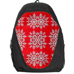 Background For Scrapbooking Or Other Stylized Snowflakes Backpack Bag
