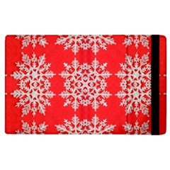 Background For Scrapbooking Or Other Stylized Snowflakes Apple Ipad 2 Flip Case