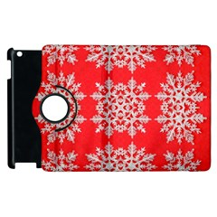 Background For Scrapbooking Or Other Stylized Snowflakes Apple Ipad 2 Flip 360 Case